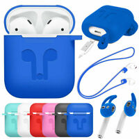 For Apple Airpods Airpod TPU Silicone Case Cover Skin Accessories with Ear Hooks