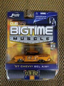 JADA TOYS DUB CITY BIGTIME MUSCLE BTM 1957 BEL AIR  1:64 W5 CLTR 052 #70