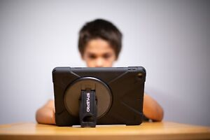 iPad rugged case with rotating stand for all Apple models, Australian Brand.