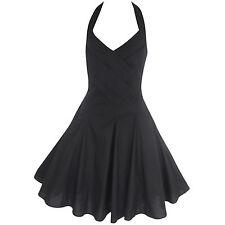 Vestiti da donna stile anni'50, rockabilly nero senza maniche
