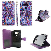 Flip Wallet Case Purplish Vintage for LG G5 G 5 LS992 Cash id Slot Stand Cover