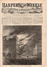 1868 Harpers Weekly February 15-Chicago Fire; Oregon Indians hunt salmon;Ireland