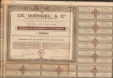 DE WENDEL & Cie (JOEUF MEURTHE & MOSELLE) (M)