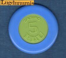 Jeton Casino - Casino Pau 5 Bleu centre Vert