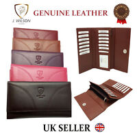 Ladies Designer J Wilson Genuine Leather Wallet Women Quality Clutch Purse Card