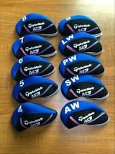 10Pcs Protective Club Covers for Taylormade M3 Iron Headcovers Blue&Black 4-Lw