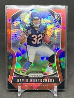2019 NFL Prizm David Montgomery Bears RB Red Cracked Ice Rookie Card
