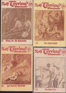 Rolf Torrings Abenteuer (Volksliteratur Vorkrieg NACHDRUCKE) 112 Hefte