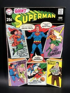 Superman 217 Giant G 60 Very High Grade VF/NM- Famous Firsts  Gorgeous