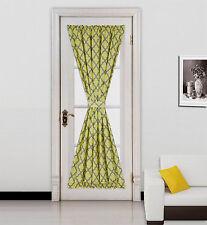 "1 Geometric Design Blackout Window Curtain French Door Panel 55""X72"" ELLA"