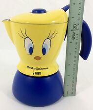 Bialetti Mukka Express TWEETY BIRD Stove Top 2 Cup Cappuccino Maker Yellow Blue