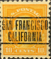 Scott #416 US 1912 10 Cent Franklin Precancel Postage Stamp XF