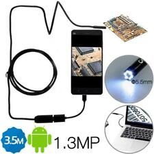 3.5M 5.5mm 6 LED Lens IP67 USB Endoscope f Android Smartphone & PC