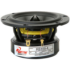 "Dayton Audio - RS100-4 - 4"" Reference Full-Range Driver 4 Ohm Speaker"