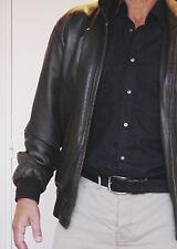 MAC DOUGLAS Blouson cuir esprit pilote Agneau Taille 54