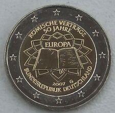 2 Euro Deutschland G 2007 Römische Verträge unz