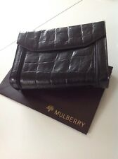 Beautiful Mulberry  Vintage Black Congo Leather Case / Clutch Bag