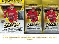 2019-20 Upper Deck MVP NHL Hockey Cards 1-BLASTER BOX + 2-FAT PACKS Combo Set