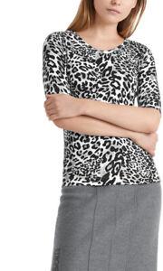 """Marc Cain  Ripp-Shirt mit """"Leomuster  schwarz/weiß/grau UVP 149,90"""