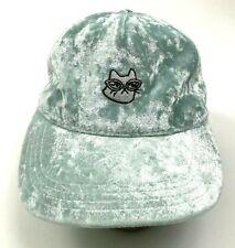 Kitty Cat Velvet Velour Hat Cap Strapback Adjustable One Size Sun Protection