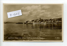 Scotland - Gourock from the water, buildings, bathing pool, RPPC real photo