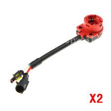2x HID D2S D2R D2C Bulbs Ballast Harness Converter Socket Adapter Wire Cable J01