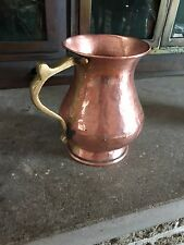 SOLID COPPER AND BRASS DECORATIVE WIDE MOUTH MUG STUNNING SHOWPIECE