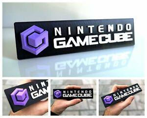 Nintendo Gamecube 3D logo / shelf display / fridge magnet - gaming collectible