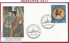 ITALIA FDC ROMA LORENZO DE MEDICI IL MAGNIFICO 1992 ANNULLO TORINO S235