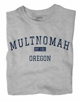 Multnomah Oregon OR T-Shirt Portland EST