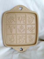 Brown Bag Cookie Art Shortbread Flowers & Berries Pan Mold Bakeware 1988 Retired