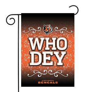 """Cincinnati Bengals NFL Garden Flag Officially Licensed Paisley 13"""" x 18"""""""