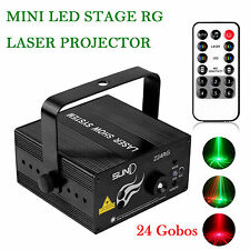 MINI LED Stage Lighting 24 Gobos R & G Laser Projector Disco Party Club DJ Light