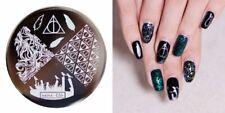 Arte de uñas imagen Planchas para Estampar placa Decoracion Harry Potter Halloween (jeje 36)
