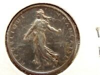 """1918 France One (1) Franc Silver """"WWI"""" Coin"""