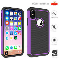 Case Apple iPhone XS X 8+7+6+ 8 7 6S 4S 4 Shockproof Silicone Heavy Armor Cover