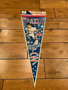 Mike Piazza Los Angeles Dodgers 1993 ROTY Full Size MLB baseball player Pennant
