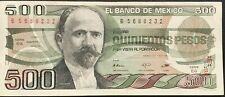 Billete México 500 pesos 1984