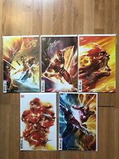 DC Rebirth The Flash Issues 47-51 Cover B Flash War Signed