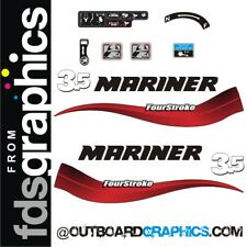 Mariner 3.5hp 4 stroke outboard decals/sticker kit inc control decals