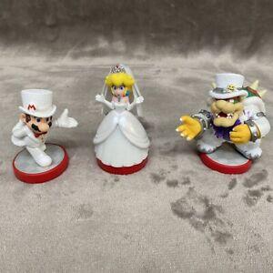 Mario Bowser Peach Wedding Amiibo 3 Pack