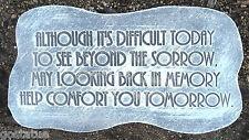 """Plastic Memorial mold garden ornament plaster concrete mould """"although it's """""""