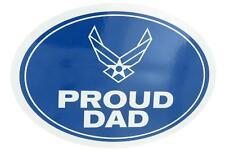 U.S. Air Force USAF Proud Dad USA Military Oval Car Refrigerator Magnet