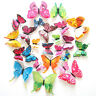 KQ_ 12/24 Pcs DIY 3D Butterfly Magnetic Wall Stickers Art Decals Room Home Decor