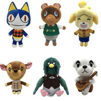 8'' Animal Crossing Tom Nook Shizue Isabelle KK Slider Plush Stuffed Toy Dolls
