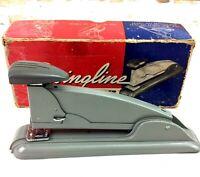 1950s SWINGLINE Speed Stapler No 4 Gray & Dark Gray in Original Box USA
