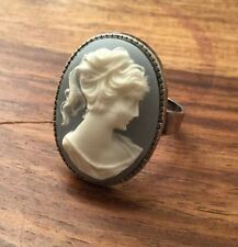 Brass Cocktail Oval Costume Rings
