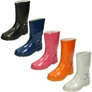 Girls Spot On Ring Trim Wellington *Boots*