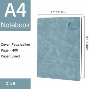 """Big A4 Notebook 400 Pages Lined Diary Back to School Gift, 8.5"""" x 11.4"""""""