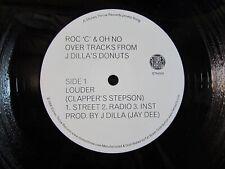 "J DILLA Pandemonium/Louder STONES THROW PROMO 12"" Donuts Jay Dee ROC C/OH NO"